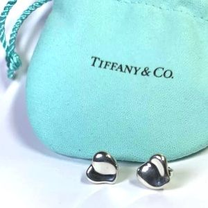 Tiffany Co. Silver Heart Earrings